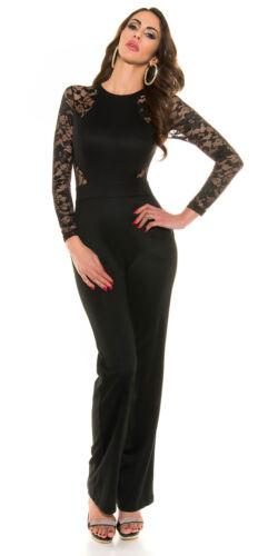 complète Combinaison dentelle élégante longues cérémonie robe jumpsuit robe de femme manches Rqw6Adq