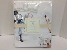 Pottery Barn Kids Organic Vintage Baseball Twin Bed Sheets Set Sports Players