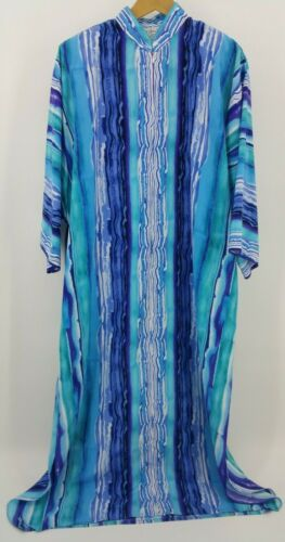 Ruth Norman Neiman Marcus size Large Blue Caftan H