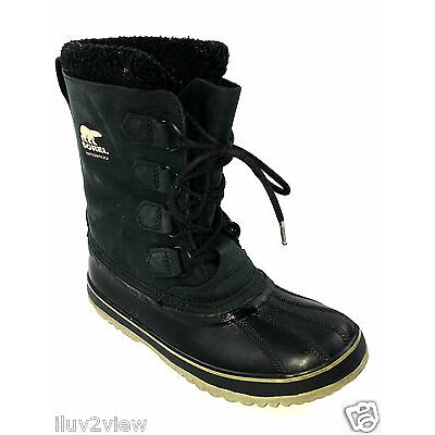 SOREL NL-1645-012 Charcoal / Black Waterproof Boots Style  Size 8 US.