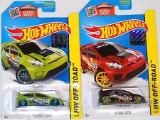 2015 HOT WHEELS RLC FACTORY SET OFF ROAD 2012 FORD FIESTA X2 BOTH COLORS