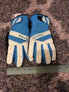 Dakine-Large-Ski-Snow-Board-Gloves-Black-Retro-Vintage-Ladies-Women-s-Snow-Blue