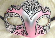 PINK CANDY EYE MASK~SUGAR SILVER BLACK~MASQUERADE~UNI BALL~PROM~35250~FREE PP UK