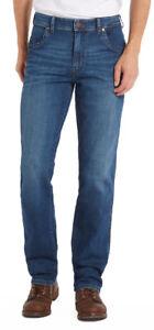 Wrangler-Texas-Stretch-Jeans-New-Men-s-Regular-Dark-Blue-Faded-Night-Break-Denim