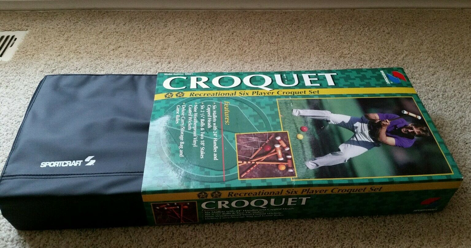 Sportcraft Croquet 6 Player Set Travel Carrying Case BRAND NEW NEVER OPENED