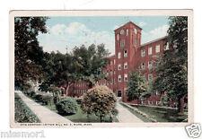 Vintage 1920 Postcard Ware Massachusetts Otis Company Cotton Mill No. 3