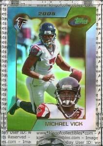 MICHAEL-VICK-2005-eTopps-1-Atlanta-Falcons-Card-IN-HAND-Philadelphia-Eagles