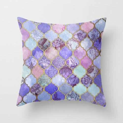 18/'/' Pillowcase purple pillow case sofa waist throw cushion cover Home Decor