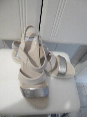 Neu ECCO FLASH Komfort Sandalen creme + Silber Gr. 40 | eBay