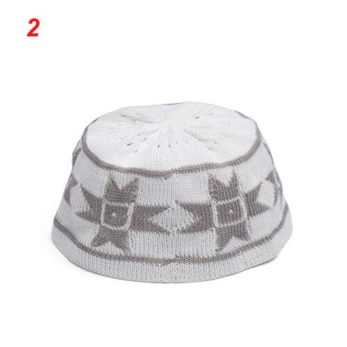 Men/'s Muslim Koofi Cap Hats Men Prayer Islam Egyptian Kufi Topi Accessories