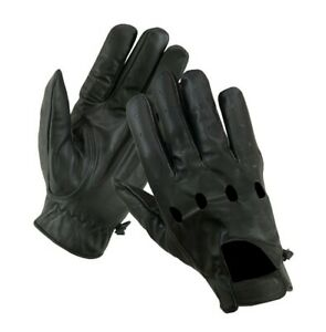 Men-039-s-Cow-Hide-Leather-Driving-Gloves-Motorcycle-Biker-Style-Unlined-Gloves-New