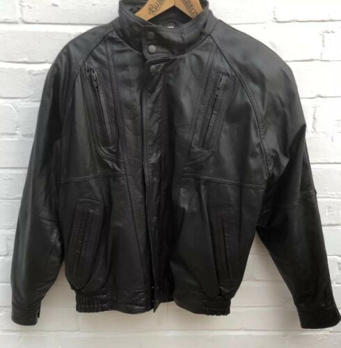 Club Brown Casual Coat Dark Leather Vintage Medium Jacket Mens Aviator pf5qZ