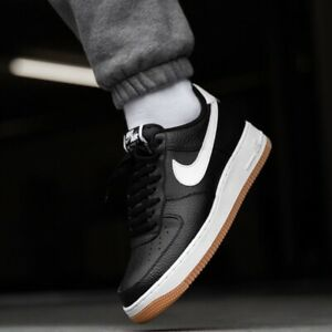 Nike Air Force 1 Low Sneakers Men S Lifestyle Comfy Shoes Black