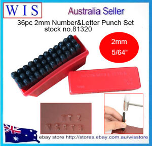 36pc-2mm-5-64-034-Steel-Punch-Alphabet-Letter-Number-Stamp-Tool-Metal-Leather-Craf