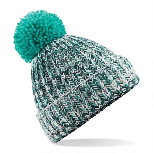 Woolly Beanie Bobble Hat Chunky Knit Super Soft Winter Ski Warm Mens Womens