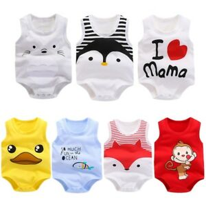 New-Cotton-Newborn-Kids-Baby-Girl-Boy-Bodysuit-Romper-Jumpsuit-Clothes-Outfits