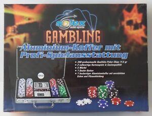 Solex-Gambling-Poker-Chips-Set-Koffer-Profi-Spielausstattung-NEU-NEW