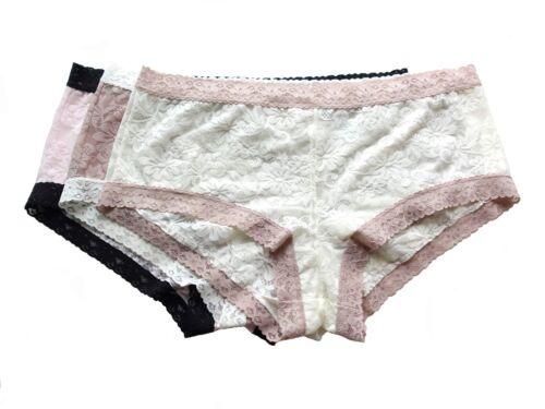 Lot Maidenform Pink Gray Red Mocha Full Lace Boyshort Panties 6//M 7//L 8//XL