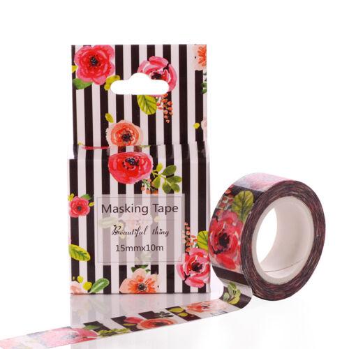 Hot Cartoon and paper tape paste label decoration scrapbook DIY craft Rose