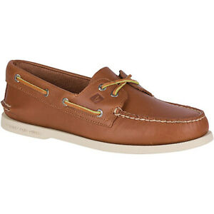 Sperry-Top-Sider-Men-039-s-A-O-2-Eye-Tan-Original-Boat-Shoes-0532002-NEW