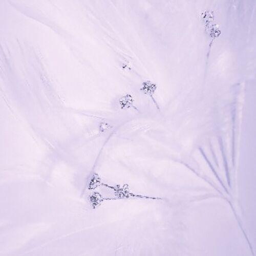 Plume Strass 6 tiges 18 cristaux par grappe Art floral robe de mariage artisanat