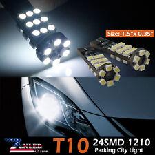 2x White Canbus Error Free Car T10 LED 24-smd Wedge Light Bulb W5W 194 168 2825