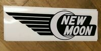 """New Moon Travel Trailer Lucy & Ricky, Vintage Style Repro decal @ 18"""""""