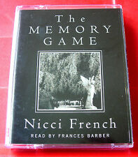 Nicci French The Memory Game 2-Tape Audio Frances Barber Thriller (Gerrard/Sean)