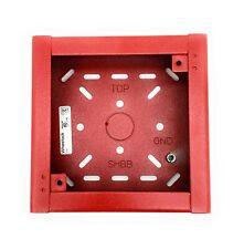 Wheelock Shbb R Red Surface Backbox For Nsasrss