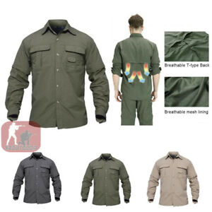 Mens-Long-Sleeve-Shirts-Quick-Drying-Shirt-Army-Military-Hiking-Casual-Outdoor