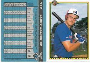1989-LARRY-WALKER-BOWMAN-ROOKIE-MONTREAL-EXPOS-BASEBALL-CARD