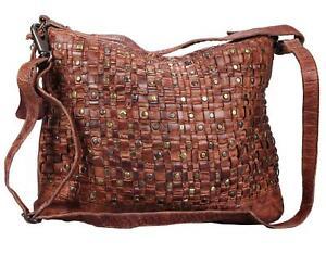 Greenburry-Billy-the-Kid-Schultertasche-Leder-Handtasche-Damentasche-Tasche-cogn