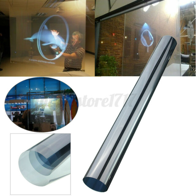 60*120cm Rear Projection Screen Material Self Adhesive Holographic Window Film .