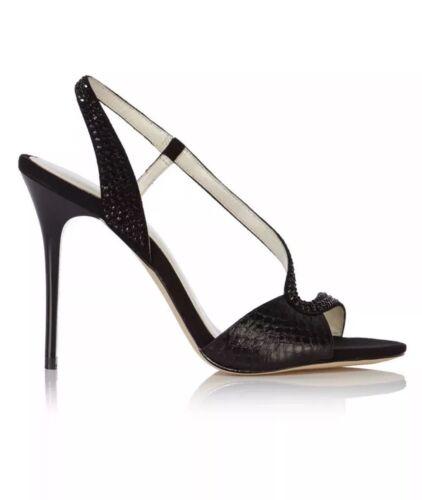 7 Millen Black Karen 250 £ Bnib Crystal Limited Rrp Edition Sandals Swarovski Uk 7wRq4