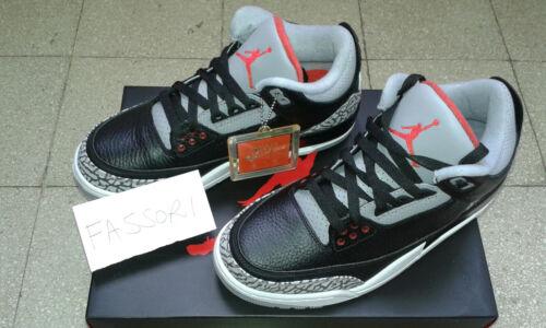 Jordan Nike Air uk6 Iii porté Ciment 001 neuf 3 noir us7 jamais Eu40 854262 61wEqxqt5