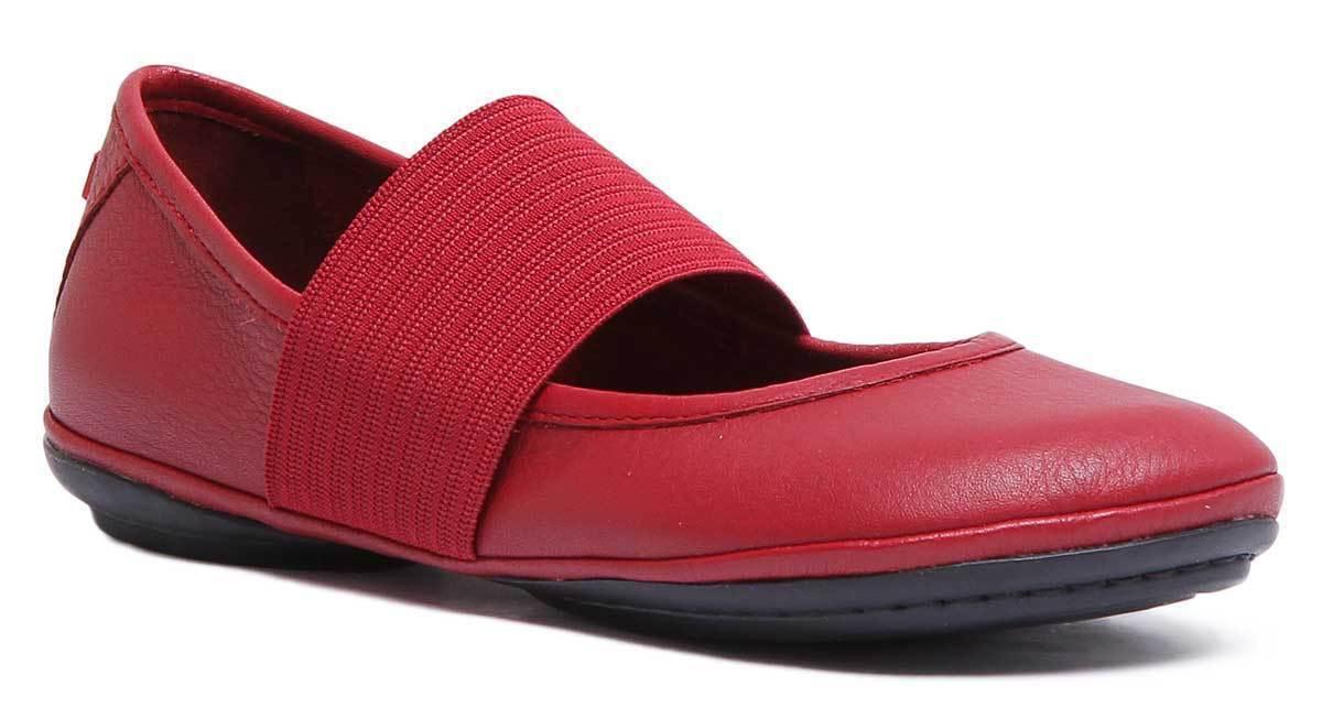 Camper Zapatos para mujer de cuero rojo rojo rojo de bailarina derecha tamaño de Reino Unido 3 - 8  ¡no ser extrañado!