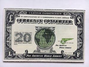 Image Is Loading Vintage 1955 Pan American World Airways Currency Converter