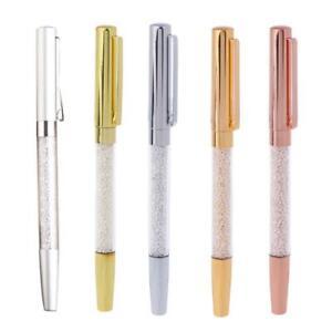 Luxus-Bling-Metall-Strass-Kristall-Kugelschreiber-Schreibwaren-Schreibstift
