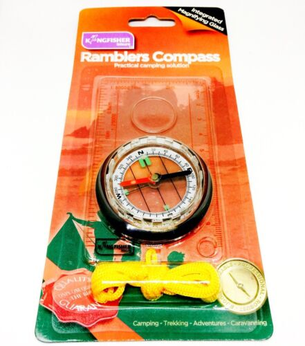 Magnifying Map Reading Compass Hiking Army Camping Scouts Orienteering Essential