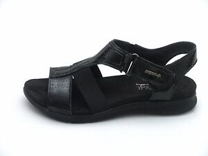 SANDALI ENVAL SOFT DONNA 7963300 PELLE VERNICE NERO MADE IN ITALY SANDALS