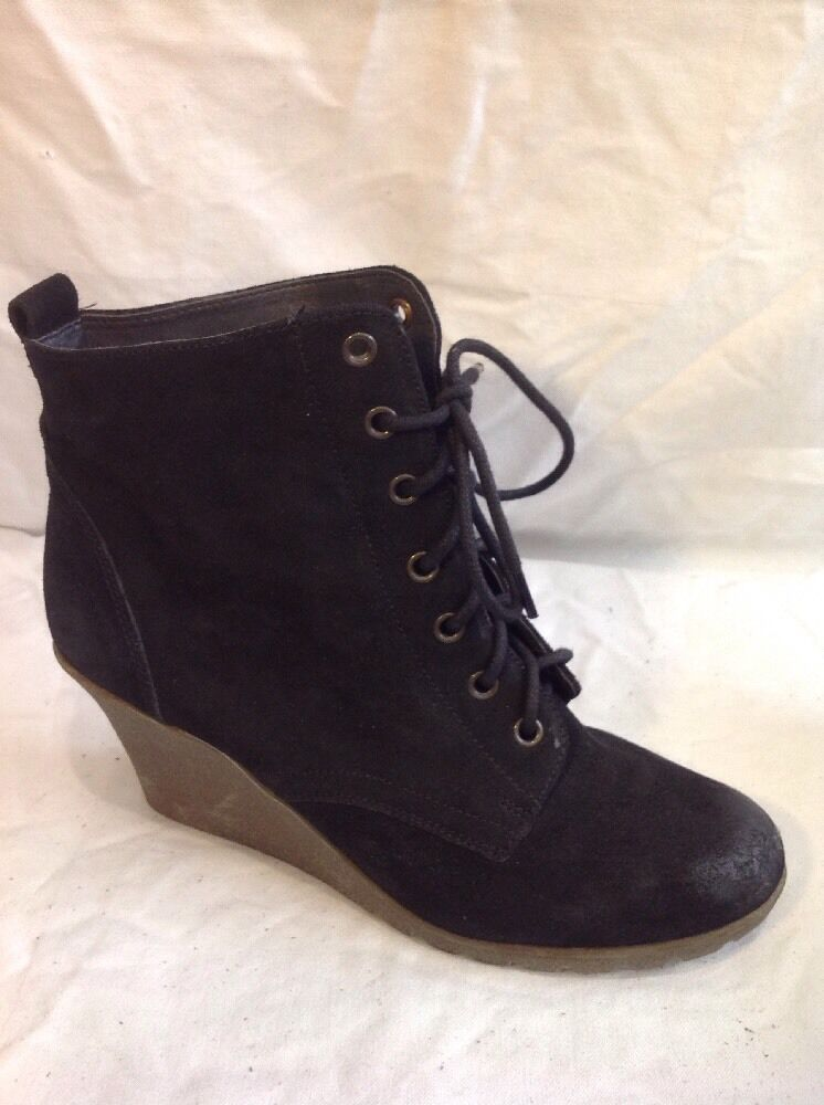 Jasper Conran Black Ankle Suede Boots Size 8
