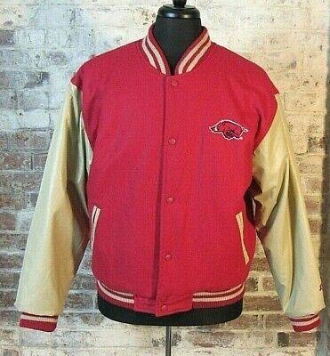 90s university of arkansas razorbacks starter jacket size medium