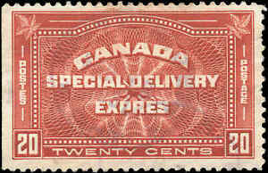 Canada-Used-F-Scott-E5-20c-1932-Special-Delivery-Stamp