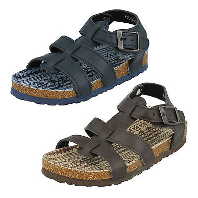 Boys Unbranded Open Toe Sandals Navy/Brown N0035
