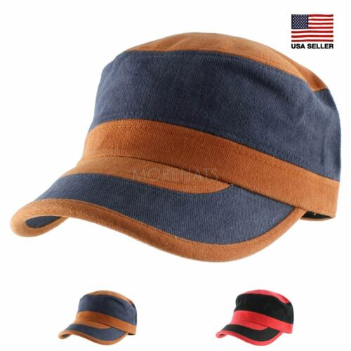 Color Block Mix Military Army Soft Knit Baseball Cap Casual Hat Women Men Unisex