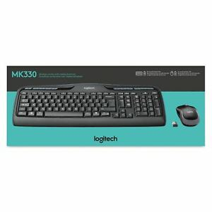 Details about Logitech MK330 Wireless Combo Keyboard and Computer Mouse, UK  QWERTY- Black