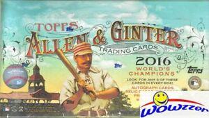 2016-Topps-Allen-amp-Ginter-Baseball-HUGE-Factory-Sealed-HOBBY-Box-3-HITS-192-Cds