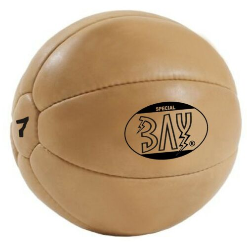 Bay Profi piel sintética Medicina Ball 3 5 7 10 kg negro pelota de gimnasia pelota de fitness