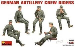 Kit-Modello-Personaggi-MIN35040-Miniart-1-3-5-Tedesco-Artiglieria-Riders