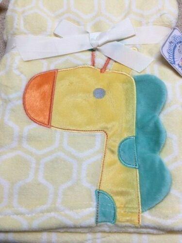 Babies 3D Coral Fleece Wrap Blanket 75cm x 100cm Yellow Pink Blue Personalised